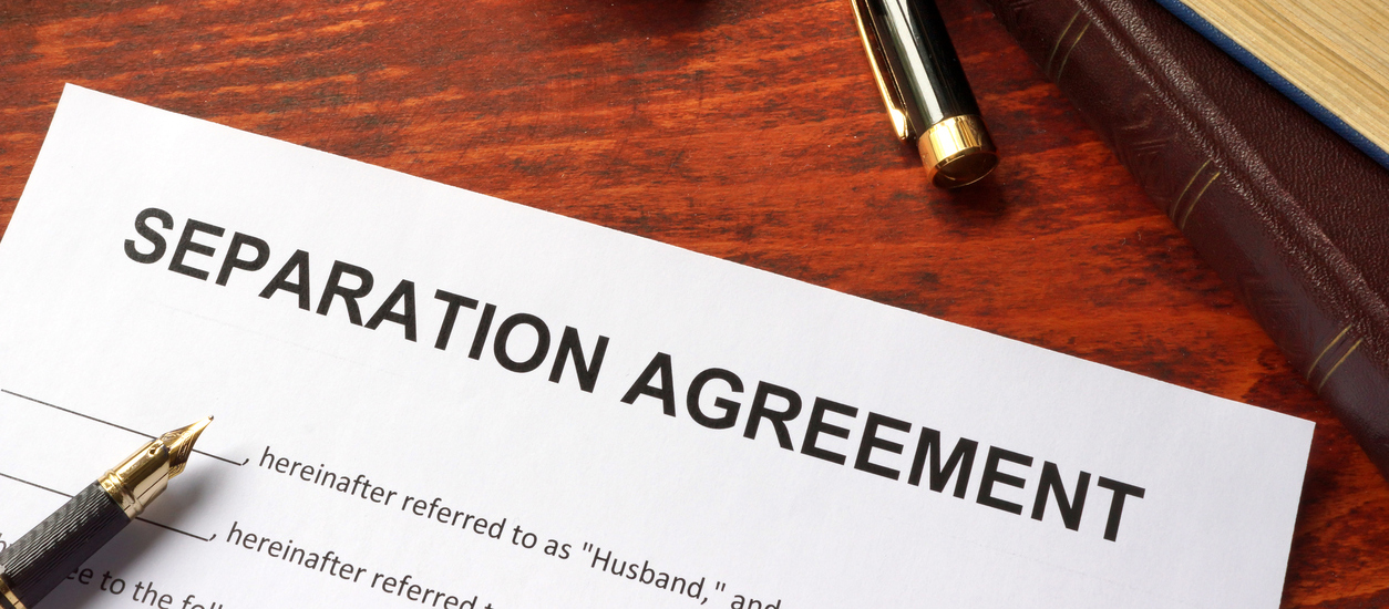 Separation Agreement Form On An Office Table Ideal Legal Group